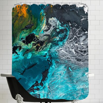 The Blue Beyond Shower Curtain