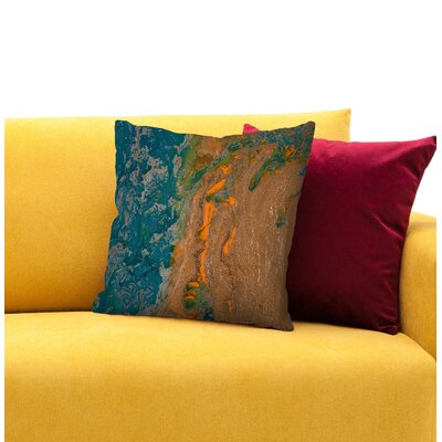 Sea of Gratitude Throw Pillow Size: 16 H x 16 W x 1.5 D
