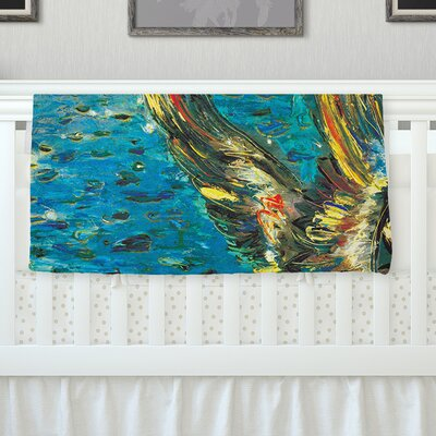 Seabirds by Josh Serafin Fleece Blanket Size: 60 L x 50 W