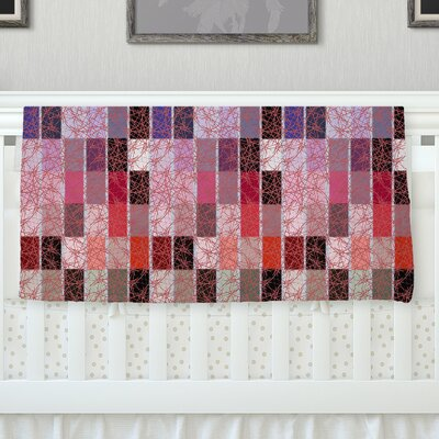 Ruby Tiles by Laura Nicholson Fleece Blanket Size: 60 L x 50 W