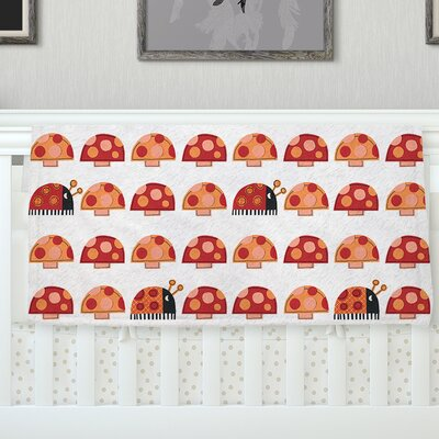 Garden Ladybugs by Jane Smith Fleece Blanket Size: 40 L x 30 W