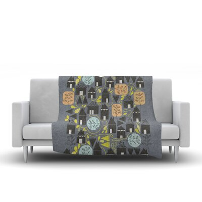 The Street Where I Live by Michelle Drew Fleece Blanket Size: 60 L x 50 W