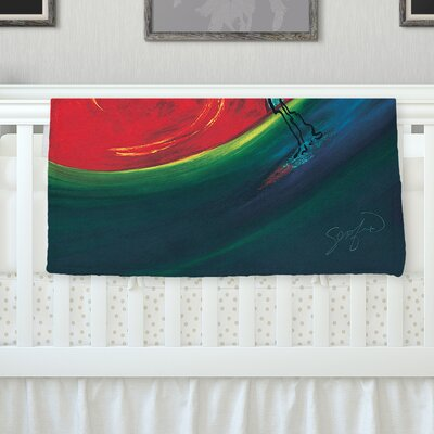 Glide by Josh Serafin Fleece Blanket Size: 40 L x 30 W