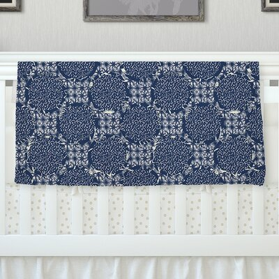 Indigo Lattice by Laura Nicholson Fleece Blanket Size: 40 L x 30 W