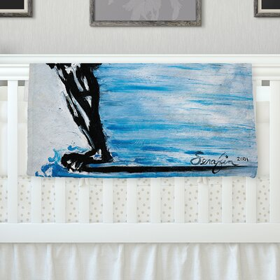 Hangin 10 by Josh Serafin Fleece Blanket Size: 60 L x 50 W