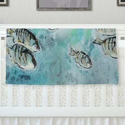 Perch Surfin by Josh Serafin Fleece Blanket Size: 80 L x 60 W