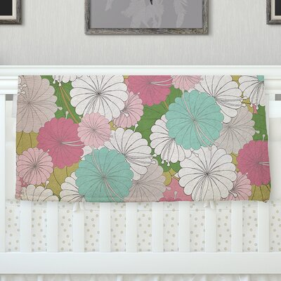 Parasol Flowers by Michelle Drew Fleece Blanket Size: 60 L x 50 W