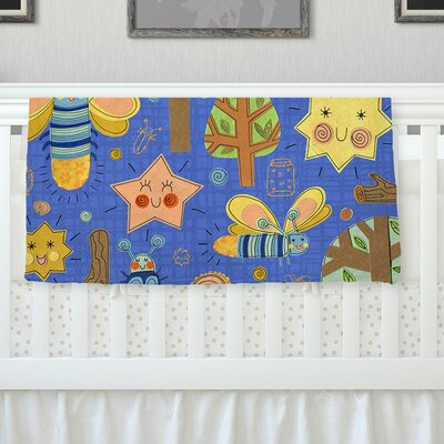 Lightning Bug by Jane Smith Fleece Blanket Size: 80 L x 60 W