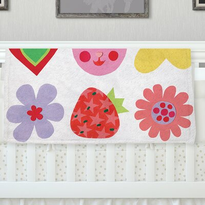 Summer Repeat by Jane Smith Fleece Blanket Size: 40 L x 30 W