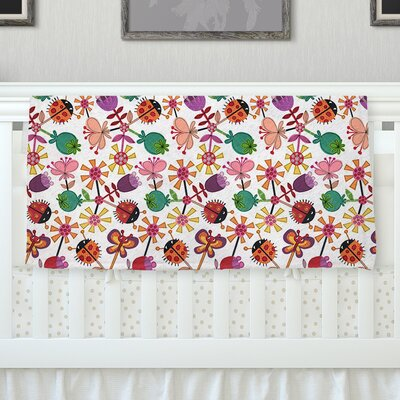 Garden Floral by Jane Smith Fleece Blanket Size: 40 L x 30 W