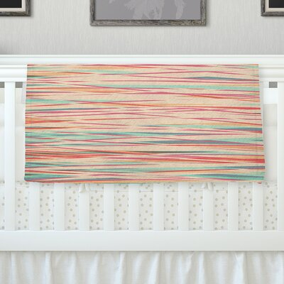 Stripy Wood Bark by Michelle Drew Fleece Blanket Size: 60 L x 50 W