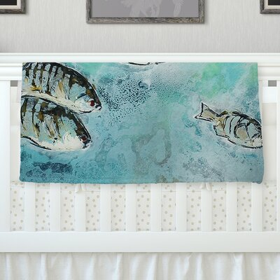 Surf Perch by Josh Serafin Fleece Blanket Size: 40 L x 30 W