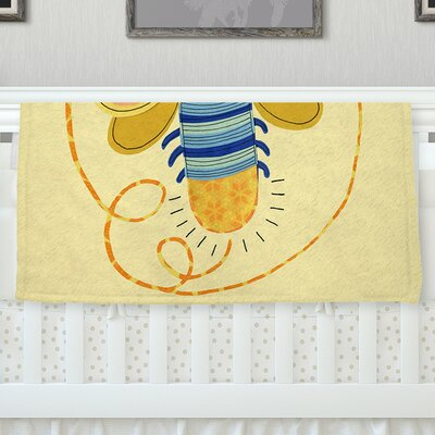 Little Night Bug by Jane Smith Fleece Blanket Size: 80 L x 60 W