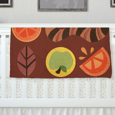 Autumn Repeat by Jane Smith Fleece Blanket Size: 80 L x 60 W