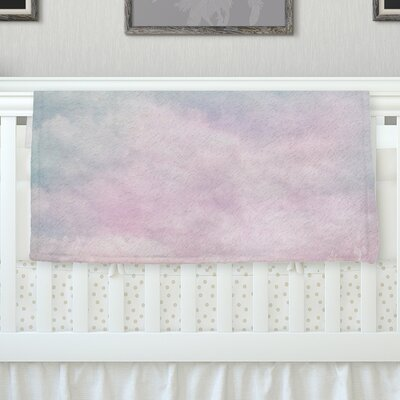 Vintage Clouds by Michelle Drew Fleece Blanket Size: 60 L x 50 W