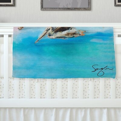 Coast by Josh Serafin Fleece Blanket Size: 40 L x 30 W