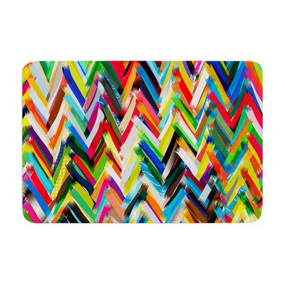 Chevrons by Frederic Levy-Hadida Memory Foam Bath Mat