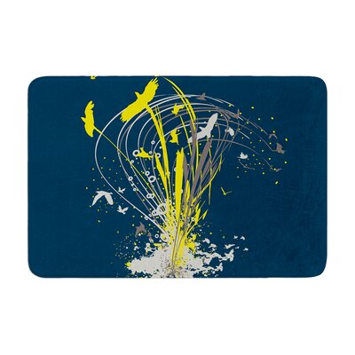 Migratory Patterns by Frederic Levy-Hadida Memory Foam Bath Mat