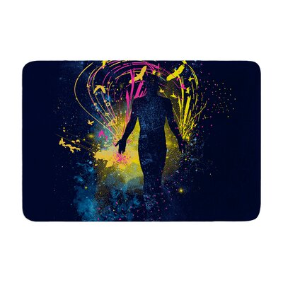 The Birds Master by Frederic Levy-Hadida Memory Foam Bath Mat