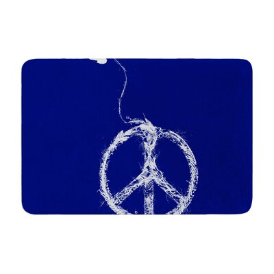 Bird Sewing Peace by Frederic Levy-Hadida Memory Foam Bath Mat