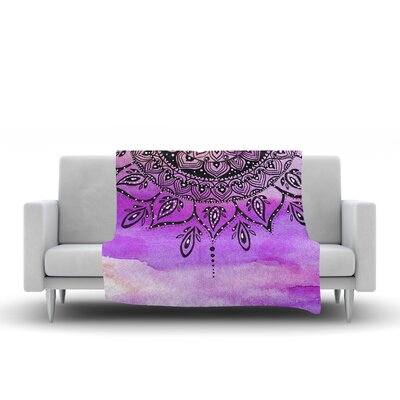 Mandala by Li Zamperini Fleece Blanket Color: Lilac