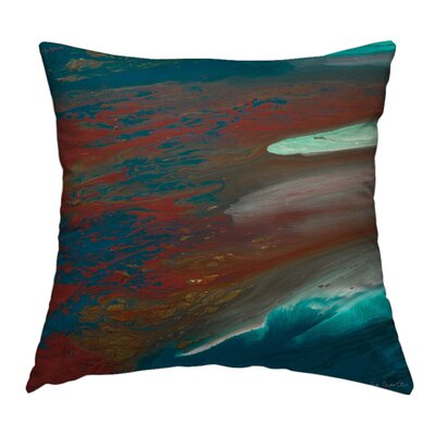 Coral Beauty Throw Pillow Size: 14 H x 14 W x 1.5 D