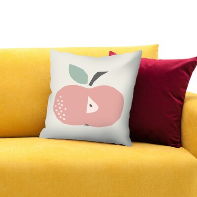 Apple Throw Pillow Size: 18 H x 18 W x 1.5 D