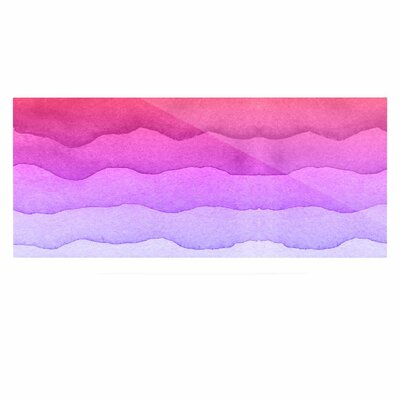 Abstract 'Ombre Sunset' Graphic Art Print on Metal EAHU2387 37791186