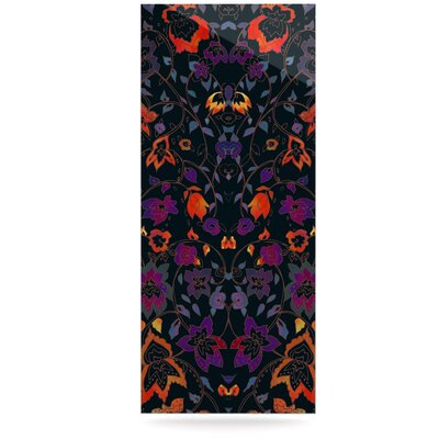Dark 'Bali Tapestry' Graphic Art Print on Metal EAHU4669 37796931