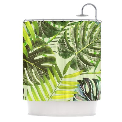 Shower Curtain Color: Green/Yellow
