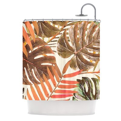 Shower Curtain Color: Orange/Brown