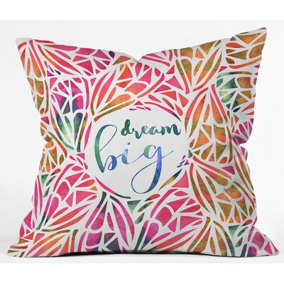 Outdoor Throw Pillow Size: 18 H x 18 W x 5 D, Color: Pink/Orange
