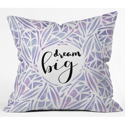 Outdoor Throw Pillow Size: 18 H x 18 W x 5 D, Color: Purple