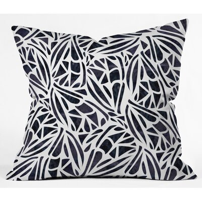 Outdoor Throw Pillow Size: 16 H x 16 W x 5 D, Color: Black