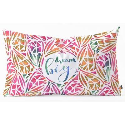 Lumbar Pillow Size: 14 H x 23 W x 5 D, Color: Pink/Orange