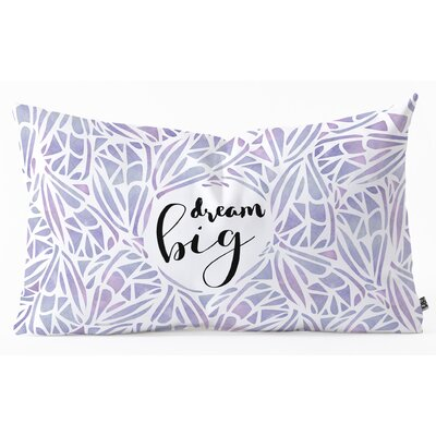 Lumbar Pillow Size: 14 H x 23 W x 5 D, Color: Purple