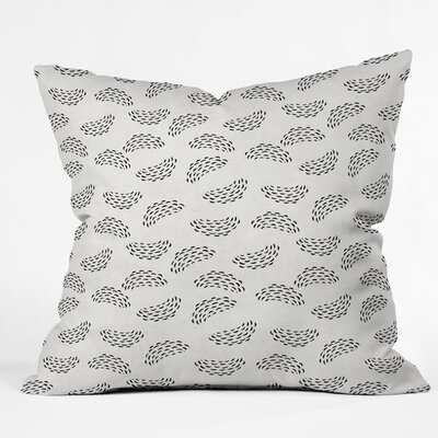Outdoor Throw Pillow Size: 16 H x 16 W x 5 D, Color: White/Black