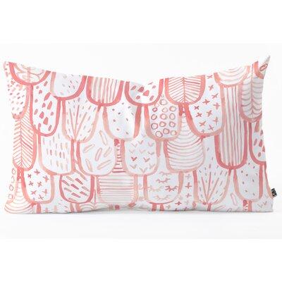 Lumbar Pillow Size: 14 H x 23 W x 5 D, Color: Pink