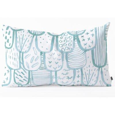 Lumbar Pillow Size: 14 H x 23 W x 5 D, Color: Blue