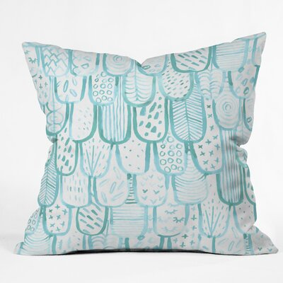 Outdoor Throw Pillow Size: 26 H x 26 W x 5 D, Color: Blue