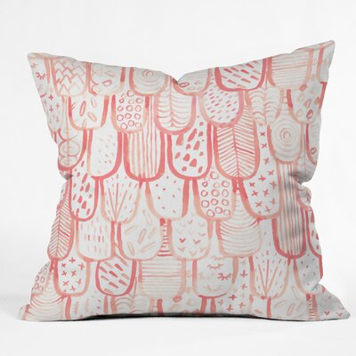 Outdoor Throw Pillow Size: 16 H x 16 W x 5 D, Color: Pink