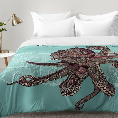 Octopus Bloom Comforter Set Size: Twin XL