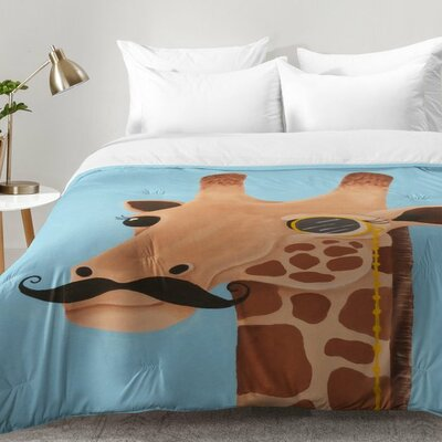 Gentleman Giraffe Comforter Set Size: Full/Queen