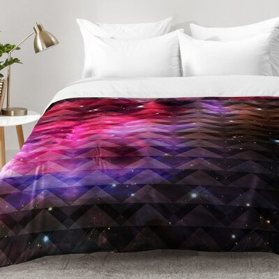 Caleb Troy Tribal Galaxy Elevator Comforter Set Size: Full/Queen