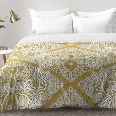 Sharon Turner Love Bird Lace Comforter Set Size: Twin XL