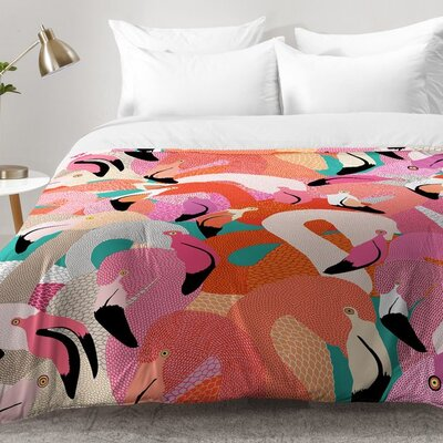 Flamingo Flock Comforter Set Size: King