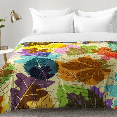 Leaves Autumn Comforter Set Size: King