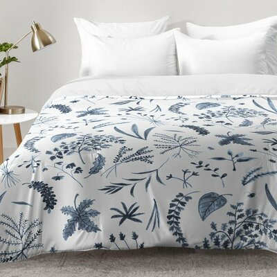 Kerrie Satava Wild Prarie Comforter Set Size: Full/Queen, Color: Blue