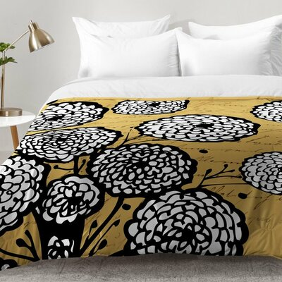 Flowery Letter Comforter Set Size: Twin XL