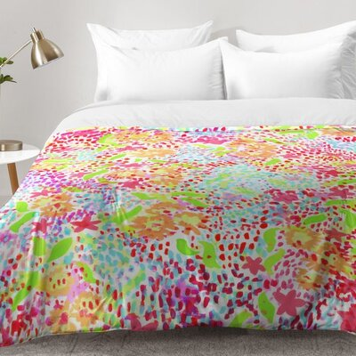 Joy Laforme Abstract Tropics I Comforter Set Size: Full/Queen